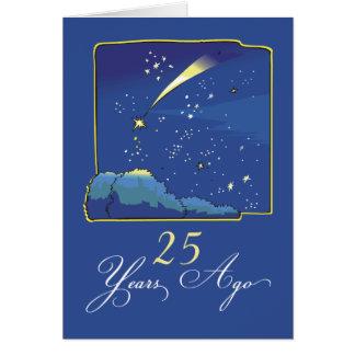 第25星および夜空との採用記念日 カード