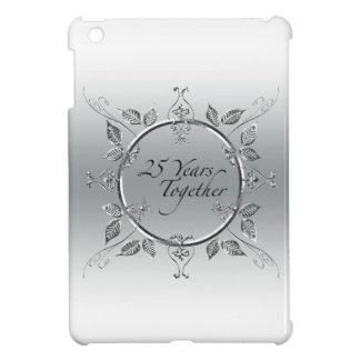 第25結婚記念日のエレガントなスクロール iPad MINIケース