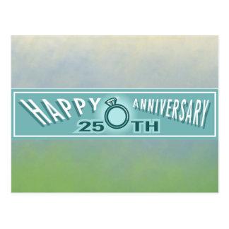第25結婚記念日のギフト ポストカード