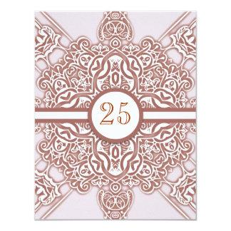第25結婚記念日のヴィンテージの上品の招待状 カード