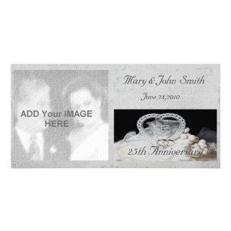 第25結婚記念日の写真カード カード
