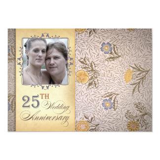 第25結婚記念日の写真 カード