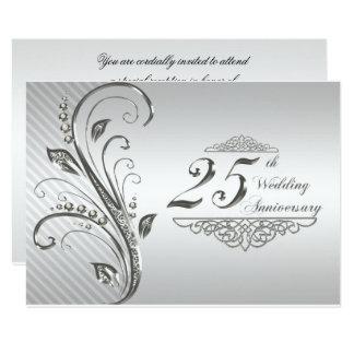 第25結婚記念日RSVP 8.9 X 12.7 インビテーションカード