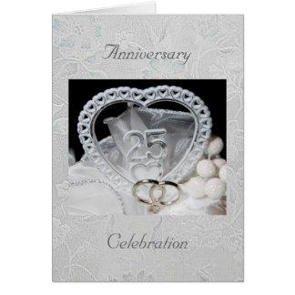 第25記念日のお祝いの招待状カード カード