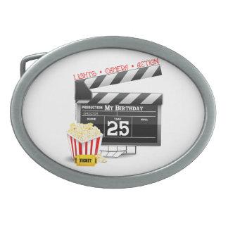 第25誕生日のハリウッド映画パーティー 卵形バックル