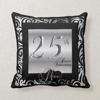 第25銀製の結婚記念日 クッション