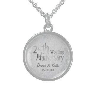 第25銀製の結婚記念日 スターリングシルバーネックレス