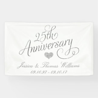 第25銀製の結婚記念日 横断幕