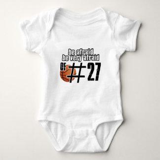 第27バスケットボールのデザイン ベビーボディスーツ