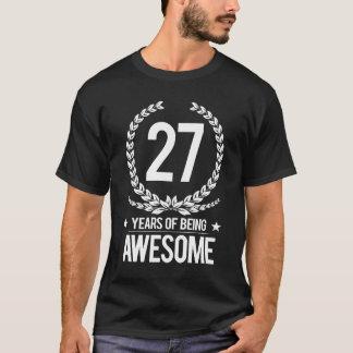 第27誕生日(素晴らしい27あ年間の) Tシャツ
