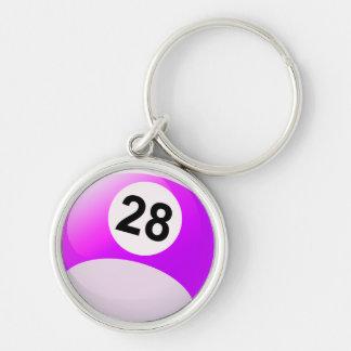 第28ビリヤードボール キーホルダー