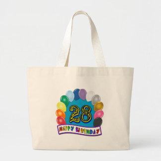 第28分類された気球のデザインの誕生日プレゼント ラージトートバッグ
