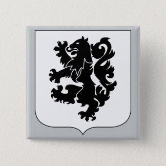 第28歩兵連隊-黒いライオン 5.1CM 正方形バッジ