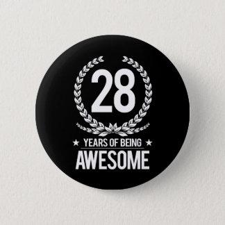第28誕生日(素晴らしい28あ年間の) 5.7CM 丸型バッジ