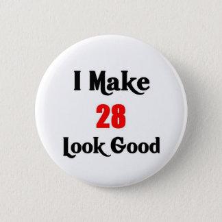 第28誕生日 5.7CM 丸型バッジ