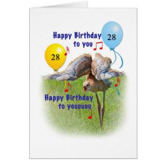 第28 Sandhillクレーン鳥が付いているバースデー・カード カード