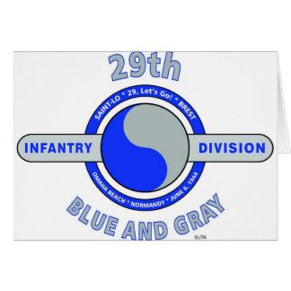 """第29青い歩兵部隊""""および灰色"""" カード"""