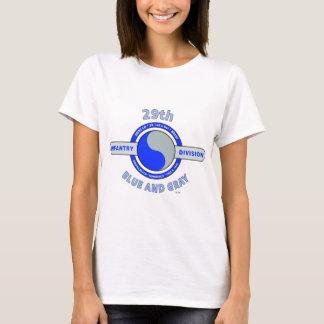 """第29青い歩兵部隊""""および灰色"""" Tシャツ"""