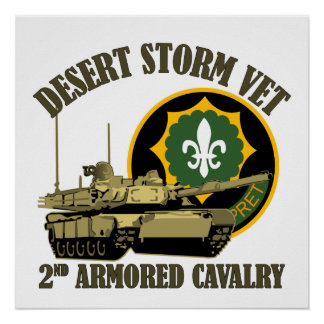 第2 ACRの湾岸戦争の獣医M1タンク ポスター