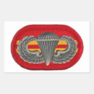 第2 BN. 319TH分野の芸術のジャンプWINGS/OVALのステッカー 長方形シール