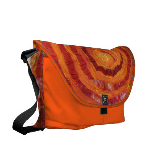 第2 Sacralチャクラの治療のオレンジアートワーク#2 クーリエバッグ
