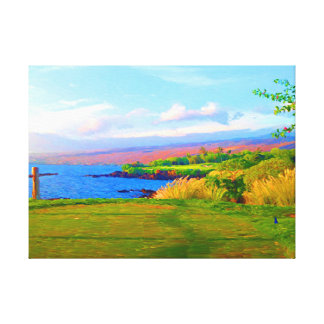 第3キャンバスのMauna Keaの湾を渡って キャンバスプリント
