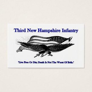 第3ニューハンプシャーの歩兵の名刺 名刺