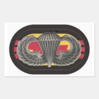 第3大隊のレーンジャーの楕円形のステッカーの翼を跳んで下さい 長方形シール