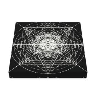第3次元の神聖な幾何学の星ライト キャンバスプリント