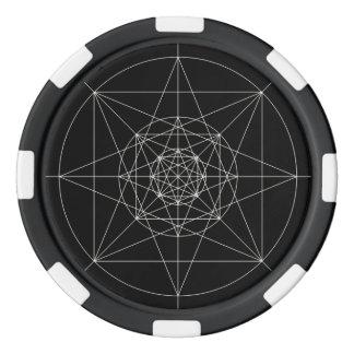 第3次元の神聖な幾何学 ポーカーチップ