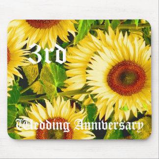 第3結婚記念日-ヒマワリ マウスパッド