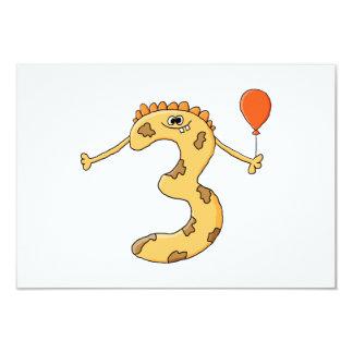第3誕生日。 黄色い誕生日モンスターの漫画 カード