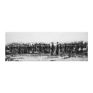第3連隊の歩兵の内戦の着色された軍隊 キャンバスプリント
