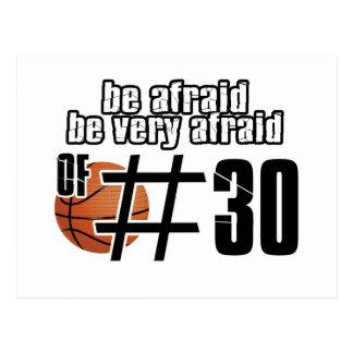 第30バスケットボールのデザイン ポストカード