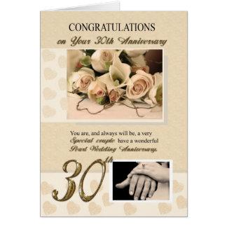 第30真珠の結婚記念日 グリーティングカード