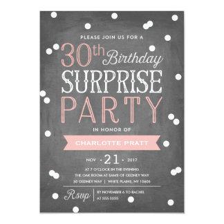第30紙吹雪の驚きのパーティの招待状 の誕生日 カード