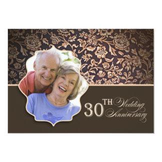 第30結婚記念日の写真 12.7 X 17.8 インビテーションカード