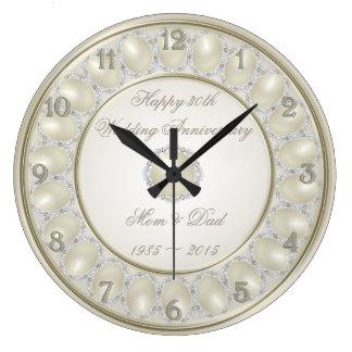 第30結婚記念日の柱時計 ラージ壁時計