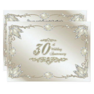 第30結婚記念日RSVP 8.9 X 12.7 インビテーションカード