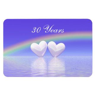 第30記念日の真珠のハート マグネット