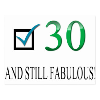 第30誕生日のため ポストカード