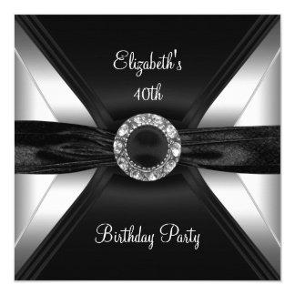 第30誕生日のダイヤモンドのイメージの白黒の銀 カード