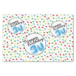 第30誕生日のティッシュペーパーのフェスティバルのカラフル 薄葉紙