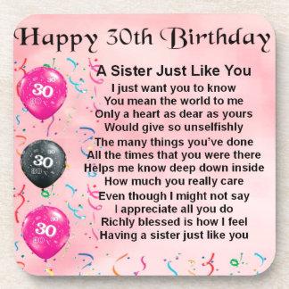 第30誕生日の姉妹の詩 コースター
