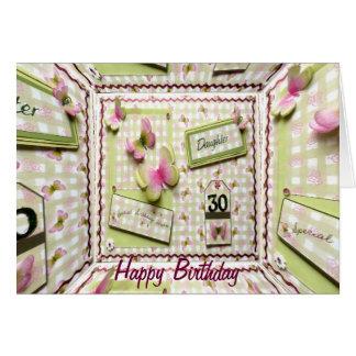 第30誕生日の娘 カード