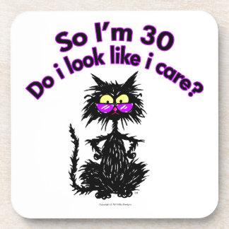 第30誕生日猫 コースター