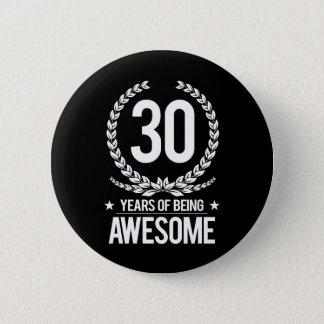 第30誕生日(素晴らしい30あ年間の) 5.7CM 丸型バッジ