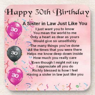 第30誕生日-義理の姉妹の詩 コースター