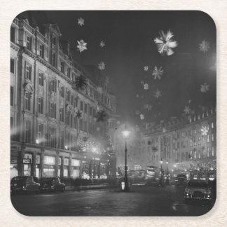 第30 1955年11月: クリスマスの装飾 スクエアペーパーコースター