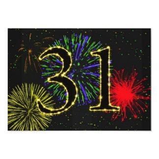 第31誕生会のinvitate カード